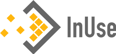 Le logo d'InUse, entreprise cliente du centre d'affaires Space2be.